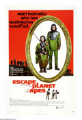 "Movie Posters:Science Fiction, Escape from the Planet of the Apes (20th Century Fox, 1971). One Sheet (27"" X 41""). In the third episode of the ""Planet of t..."