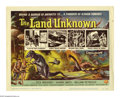 """Movie Posters:Science Fiction, The Land Unknown (Universal, 1957). Title Card and Lobby Cards (3)(11"""" X 14""""). Offered here is an original title card and t... (4Items)"""