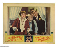 """Love, Honor and Oh, Baby! (Universal, 1933). Lobby Card (11"""" X 14""""). Offered here is an original lobby card fo..."""