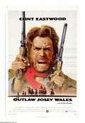 """Movie Posters:Western, The Outlaw Josey Wales (Warner Brothers, 1976). One Sheet (27"""" X 41""""). Clint Eastwood directs this film from a script by ous..."""