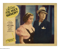 "Too Much Harmony (Paramount, 1933). Lobby Cards (2) (11"" X 14""). Offered here are two original lobby cards for..."