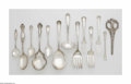 Other:American, Forty-Nine Pieces of Assorted Flatware. Various makers. A groupingof assorted sterling flatware comprising of seven demit... (50Items)