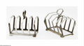 Decorative Arts, Continental:Other , A Pair of English Toast Racks. Mark of Deakin & Francis Ltd.,Birmingham, England, c.1932. The pair of Art Deco-style, fou... (2Items)