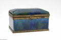 Decorative Arts, Continental:Other , A Continental Lidded Box. Sevres, c.1900. The rectangular box in aground of cerulean blue with mottling in cobalt and yel... (1 )