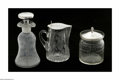 Other:American, Three American Silver and Glass Items. Mark of Watson Company,Attleboro, MA, c.1900. The group comprising of a glass jar ... (3Items)