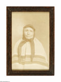 Prints:American, An Native American Photograph Maker unknown, Twentieth Century Thesepia-toned photograph on paper depicts Queen Angel...