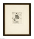 Prints:American, Lyman Byxbe (American, 1886-1980) Timberline Etching 3.5in. x 4in.Titled and signed lower margin: Timberline Lyman ...
