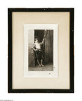 Prints:European Modern, Alf Boilot (French, 1889) Man with Staff Print 9in. x 13.5in.Signed lower left Inscribed top margin: Copyrighted 1889 ...