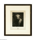 Prints:European Modern, Unknown artist Portrait of a Man, 1864 Print Titled and dated lowercenter...