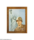 American:Modern, Lawrence Wilbur (American 1897-1988) Original Illustration, c.1944Oil on canvas 32in. x 24in. (sight size) Signed lowe... (1 )