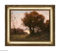 Prints:European Modern, Caret (French 1910) Autumn Scene I & II (Two paintings) Oil onboard 10.5in. x 8.5in.; 14.5in. x 11.5in. Both signed low... (2Items)