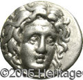 Ancients:Greek, Ancients: Carian Islands, Rhodes. Ca. 275-250 B.C. AR didrachm (20mm, 6.76 g). Head of Helios facing slightly right / Rose with budt...