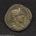 Ancients:Roman, Ancients: Otacilia Severa, wife of Philip I. AE sestertius (29 mm,17.67 g). Rome, A.D. 247-249. Diademed and draped bust right /Conc...