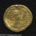 Ancients:Byzantine, Ancients: Anastasius I. A.D. 491-518. AV solidus (20 mm, 4.44 g).Constantinople, A.D. 498-518. Helmeted and cuirassed bust facingsli...