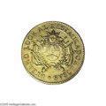 Argentina: , Argentina: La Rioja. Provincial gold 8 Escudos 1838R, KM9, boldVF-XF, very light hairlines, few tiny contact marks on the centralArge...