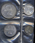 Australia: , Australia: Elizabeth II Proof Set 1961, KM-PS24, four coin setcomprising the Threepence, Sixpence, Shilling and Florin, alllightly to... (Total: 4 Coins Item)