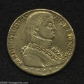 Chile: , Chile: Ferdinand VII gold 8 Escudos 1811-FJ, KM72, Imaginarymilitary bust, VF, surfaces polished and a small scratch in theleft o...