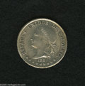 Colombia: , Colombia: Estados Unidos 50 Centavos 1882 Bogota, KM177.1, choicebrilliant UNC, very sharp details and light peripheral toning....
