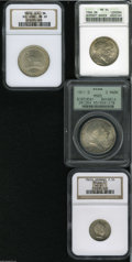 German Lots: , German Lots: Certified quartet including: Baden 2 Mark 1906, KM276, MS64 ANACS; Bavaria 3 Mark 1911D, KM517, MS65 PCGS; Prussia 2-1/2 Sil... (Total: 4 Coins Item)