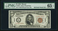 Small Size:World War II Emergency Notes, Fr. 2301 $5 1934 Mule Hawaii Federal Reserve Note. PMG GemUncirculated 65 EPQ.. ...