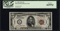 Small Size:World War II Emergency Notes, Fr. 2302 $5 1934A Hawaii Federal Reserve Note. PCGS Gem New 66PPQ.....