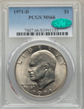 Eisenhower Dollars, (3)1971-D $1 MS66 PCGS. CAC. PCGS Population: 1214 in 66 (49 in 66+), 36 finer. CAC: 108 in 66, 8 finer (12/17). NGC Censu... (Total: 3 coins)