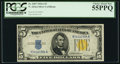 Small Size:World War II Emergency Notes, Fr. 2307 $5 1934A North Africa Silver Certificate. PCGS ChoiceAbout New 55PPQ.. ...