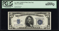 Small Size:Silver Certificates, Fr. 1654* $5 1934D Wide I Silver Certificate. PCGS Gem New 65PPQ.. ...