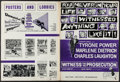 """Movie Posters:Mystery, Witness for the Prosecution & Others Lot (United Artists, 1958). Uncut Pressbooks (4) (Multiple Pages, 11"""" X 14.75"""" - 13.25""""... (Total: 4 Items)"""