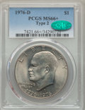 Eisenhower Dollars, 1976-D $1 Type Two MS66+ PCGS. CAC. PCGS Population: (936/28 and 21/1+). NGC Census: (513/20 and 0/0+). CDN: $45 Whsle. Bid...