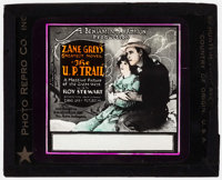 """The U.P. Trail & Other Lot (Pathé, 1920). Glass Slides (2) (3.25"""" X 4""""). Western. ... (Total: 2 Ite..."""