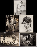 "Movie Posters:Sports, Boxing Photo Lot (c. 1940s - 1950s). Photos (5) (7"" X 8.5"" - 8"" X 11""). Sports.. ... (Total: 5 Items)"