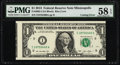 Error Notes:Miscellaneous Errors, Fr. 3002-I $1 2013 Federal Reserve Note. PMG Choice About Unc 58 EPQ.. ...