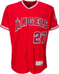 Baseball Collectibles:Uniforms, 2016 Mike Trout Game Worn Los Angeles Angels of Anaheim Jersey with Photo Matches.. ...