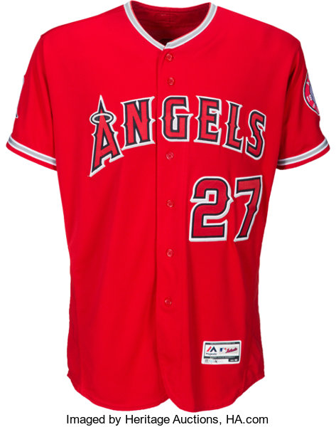 buy online a8582 5ffc9 2016 Mike Trout Game Worn Los Angeles Angels of Anaheim ...