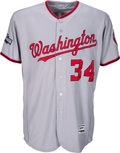 Baseball Collectibles:Uniforms, 2016 Bryce Harper Game Worn Washington Nationals Jersey with Extensive Photo Matching.. ...