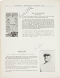 """Football Collectibles:Uniforms, 1929 Notre Dame Team Signed """"Official Football Review"""" Publication - Undefeated National Championship Season with Knute Rockne..."""