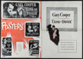 "Movie Posters:Thriller, Cloak and Dagger & Others Lot (Warner Brothers, 1946). Uncut Pressbooks (4) (Multiple Pages, 11"" X 17"" - 15.25"" X 21.5""). Th... (Total: 4 Items)"