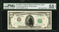 Error Notes:Ink Smears, Ink Smear Error Fr. 1977-H $5 1981A Federal Reserve Note. PMG AboutUncirculated 53 EPQ.. ...