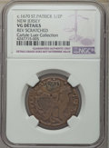 (1670-75) 1/2 P St. Patrick Halfpenny -- Rev Scratched -- NGC Details. VG. Vlack 1-B, Breen-200. EX: Carlyle A. Luer Col...