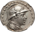 Ancients:Greek, Ancients: GRECO-BACTRIAN KINGDOM. Eucratides I the Great (ca.170-145 BC). AR tetradrachm (16.94 gm). NGC Choice AU 5/5 - 4/5....