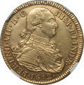 Colombia, Colombia: Ferdinand VII gold 8 Escudos 1812 P-JF AU58 NGC,...