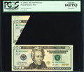 Error Notes:Major Errors, Fr. 2098-L $20 2013 Federal Reserve Note. PCGS Gem New 66PPQ.. ...