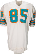 Football Collectibles:Uniforms, 1969 Nick Buoniconti Game Worn & Signed Miami Dolphins Jersey. . ...