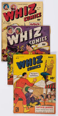 Golden Age (1938-1955):Superhero, Whiz Comics Group of 4 (Fawcett Publications, 1945-49) Condition: Average VG.... (Total: 4 Comic Books)