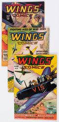 Golden Age (1938-1955):War, Wings Comics Group of 9 (Fiction House, 1945-49) Condition: Average FN-.... (Total: 9 Comic Books)