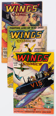 Wings Comics Group of 9 (Fiction House, 1945-49) Condition: Average FN-.... (Total: 9 Comic Books)
