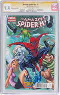 Modern Age (1980-Present):Superhero, The Amazing Spider-Man #1.1 Midtown Comics Edition - SignatureSeries (Marvel, 2014) CGC NM 9.4 White pages....