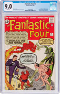Silver Age (1956-1969):Superhero, Fantastic Four #6 (Marvel, 1962) CGC VF/NM 9.0 White pages....