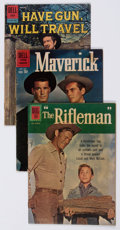 Silver Age (1956-1969):Western, Dell/Gold Key Silver Age Movie and TV Western-Themed Comics Box Lot(Dell/Gold Key, 1950s-60s) Condition: Average VG....